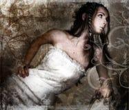 Grunge Braut lizenzfreie abbildung