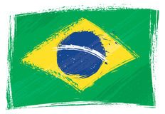 Grunge Brazil flag Royalty Free Stock Images