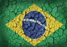 Grunge of Brazil Flag Royalty Free Stock Photography