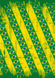 Grunge brazilian background Stock Images