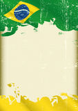 Grunge brazilian poster Stock Photo