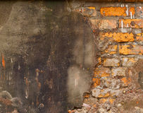 Grunge brick and concrete wall Stock Image