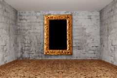 Grunge brick gallery Royalty Free Stock Image