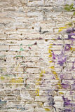 Grunge Brick. Graffiti on an old brick wall Royalty Free Stock Photo