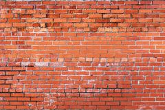 Grunge brick wall - 2. Grunge brick wall laid with a red brick - 2 Stock Photography