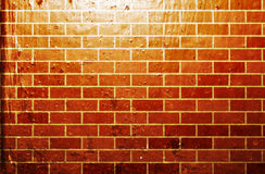 Grunge brick wall. Grunge style textured brick wall Stock Images