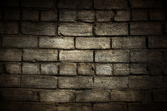 Grunge brick wall with border Royalty Free Stock Photo