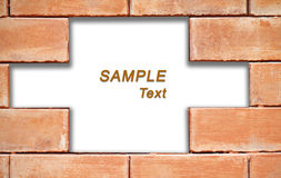 Grunge brick wall frame with white space for text Royalty Free Stock Images