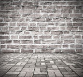 Grunge brick wall interior Stock Image