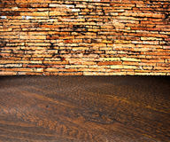 Grunge brick wall interiors room. Abstract empty room interior background Royalty Free Stock Photos