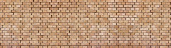 Grunge brick wall, old brickwork panoramic view Royalty Free Stock Photo
