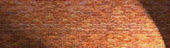 Grunge brick wall, old brickwork panoramic view Stock Image