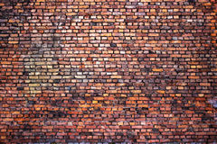 Grunge brick wall, red texture, background weathered surface royalty free stock photography