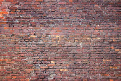 Grunge brick wall, red texture, background weathered surface stock photo