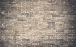 Grunge brick wall texture background with vintage filter Royalty Free Stock Photo