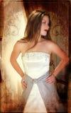 Grunge bride royalty free stock image