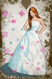 Grunge bride Stock Photo