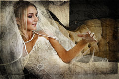 Grunge bride Royalty Free Stock Images