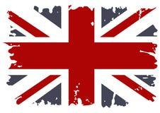 Grunge britânico da bandeira. ilustração do vetor