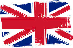 Grunge Britain flag Stock Image
