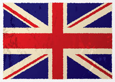 Grunge british flag. In red white and blue with old aged effect Royalty Free Stock Image