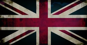 Grunge british flag Stock Photos