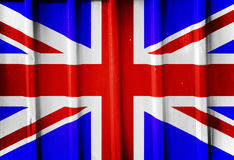 Grunge british flag Stock Images