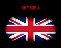 Grunge british flag. On dark background vector background illustration Royalty Free Stock Images