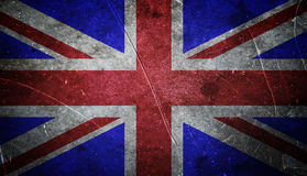 Grunge british flag. With scratched stone texture stock photography