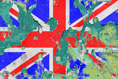 Grunge British, United Kingdom Flag Stock Image
