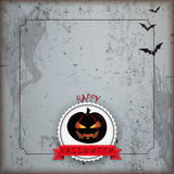 Grunge Brochure Halloween Flyer Concrete Emblem Stock Images