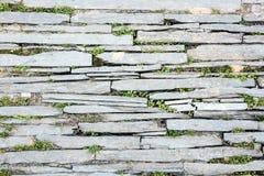 Grunge broken brick floor pattern Stock Image