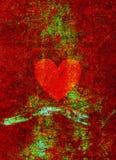 Grunge broken heart Stock Photos