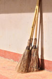 Grunge brooms Royalty Free Stock Photos