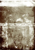 Grunge brown background. Grunge background with swirls, stains and damaged edges Stock Photo