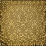 Grunge brown background with ancient ornament Royalty Free Stock Photos