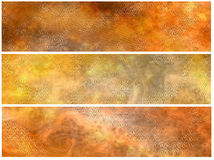 Grunge Brown Banners Or Headers Stock Photo