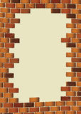 Grunge brown brick wall blank Stock Photo