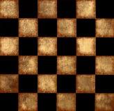 Grunge brown chessboard Stock Photo