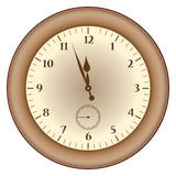 Grunge brown  clock Royalty Free Stock Photography