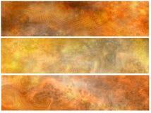 Grunge Brown Fahnen oder Vorsätze Stockfoto