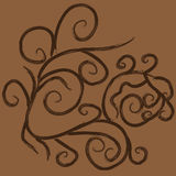 Grunge brown flourish ornament Royalty Free Stock Photo
