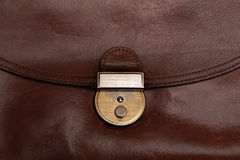 Grunge brown leather briefcase Royalty Free Stock Images