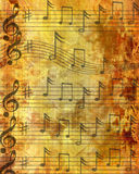 Grunge brown music sheet Stock Photo