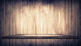 Grunge brown planks texture with shelf Royalty Free Stock Photo