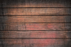 Grunge brown and red wooden planks, tabletop, floor surface, wall. Royalty Free Stock Photos