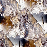 Grunge brown seamless texture of iron with a place Royalty Free Stock Photo