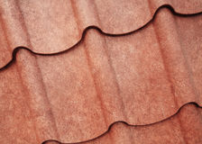 Grunge brown sheet metal roof texture Stock Photography