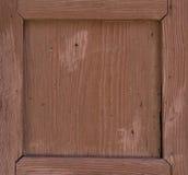 Grunge brown wood frame. Background Stock Image