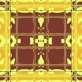 Grunge brown yellow ceramic tiles Royalty Free Stock Image